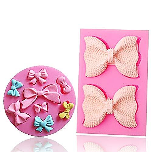 Bow Silicone Fondant Mold Bowknot Sugar Craft DIY Gumpaste Cake Decorating Clay mold chocolate Cupcake Topper