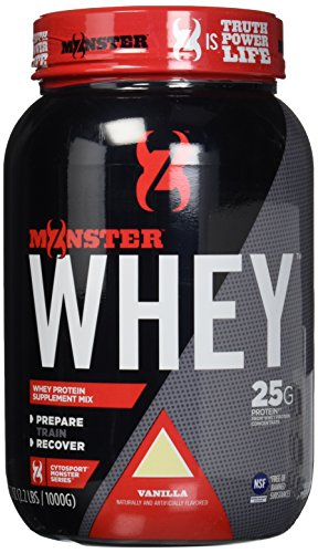Cytosport Monster Whey Protein Supplement Mix, Vanilla Flavored, 2.2 Pound (About 25 Servings)