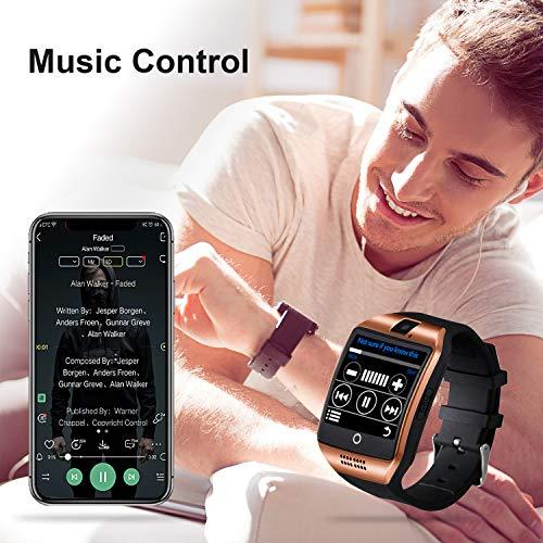 Tipmant Smartwatch, Fitness Tracker Uhr mit SIM-Karte Slot Schrittzähler Kamera Stoppuhr, Fitness Uhr Fitnessarmband Smart Watch für Samsung Huawei Xiaomi LG Android für Damen Herren Kinder (Gold)