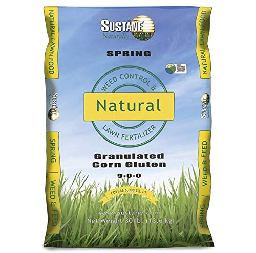 Sustane 9-0-0 Weed and Feed Fertilizer (Early Spring), 30-Pound