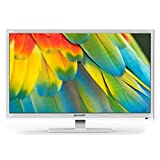 Sharp LC-24CHF4012EW tv 24'' bianco HD Ready, Active Motion 100, DVB-T/T2/C/S2