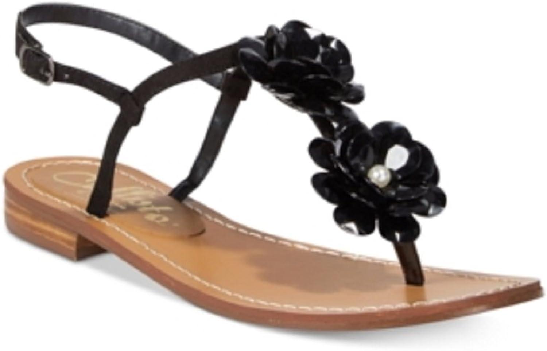 Callisto Poli Thong Flat Sandals Black 6M