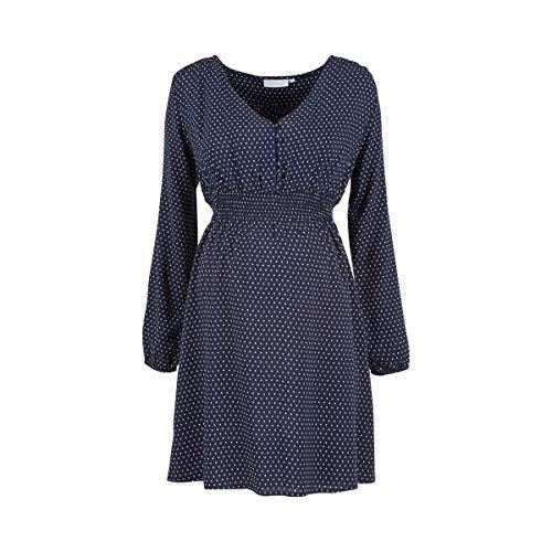 2HEARTS 'We Love Basics Umstands- und Still-Kleid Dots blau/Schwangerschaftskleider/Damen Umstandskleider/festlich, Elegantes, sportliches Sommer-Kleid für werdende Mamas