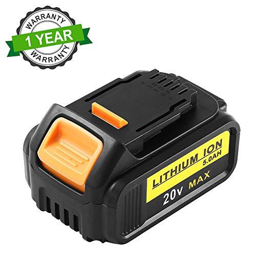 Topbatt 20V 5.0Ah vervangende batterij voor Dewalt Lithium-ion DCB205 DCB204 DCB200 DCB201 DCB185 DCB183 DCB182 DCB181 DCB180 DCD DCF DCG DCS-serie elektrisch gereedschap