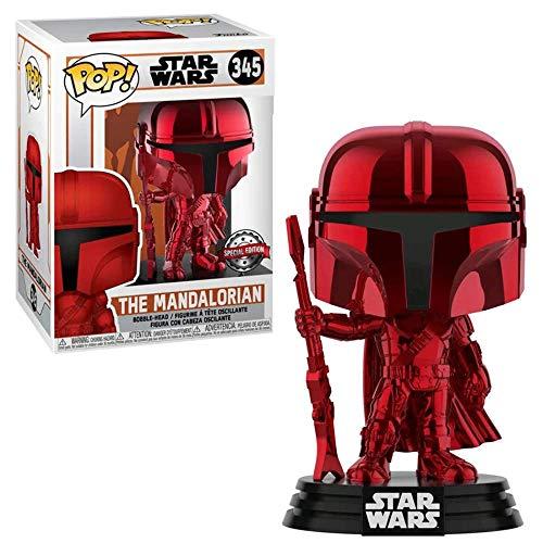 Funko Pop # 345 Star Wars The Mandalorian, Mando Chrome Rot Red, Edición Exclusiva 52696