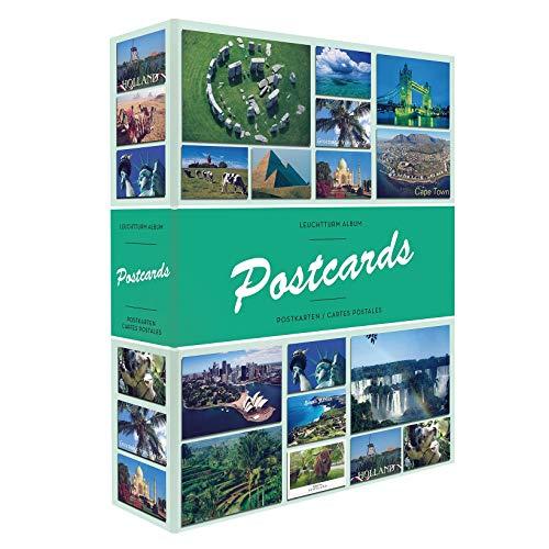 Leuchtturm Sammel-Album Postcards für 200 Postkarten, mit 50 festeingebundenen Hüllen