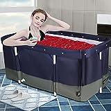 HUKOER bañera portátil,120 * 50cm Bañera plegable para adultos con funda termostática (10 x bolsa de baño),bañera adulto portatil es ideal para duchas, baños calientes, baños de hielo