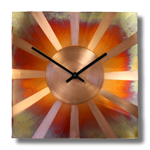 Sunny Copper Square Best Kitchen Wall Clock