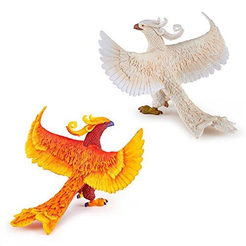 Papo Fantasywelt-Set - 36013 Phönix und 36015 weißer Phönix - Figuren-Set 2-teilig