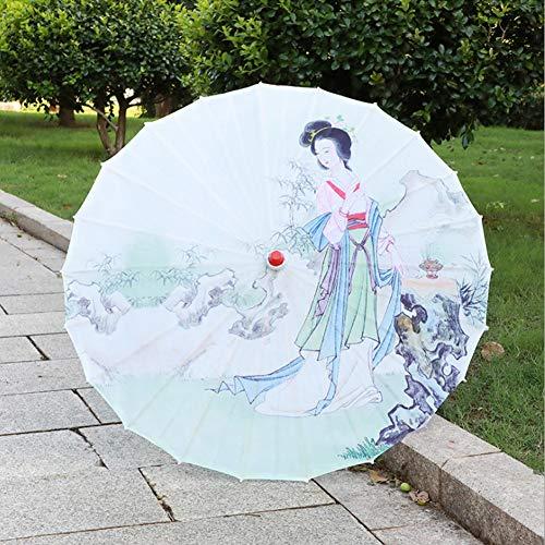 Paraguas Exquisito y Hermoso para Manualidades, sombrilla Tipo Paraguas, 22.4x33.1in Estilo Chino clásico Decorativo para decoración de Techo, Accesorios(01, Large)