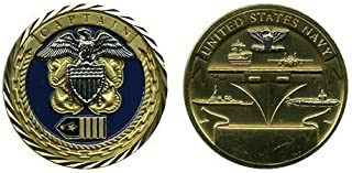US Navy Captain Challenge Coin