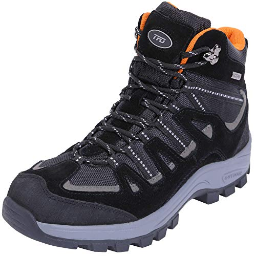 TFO Waterproof Hiking Boots for Men Breathable Non-Slip Work Boots for Trekking, Trails & Walking Black