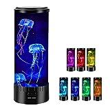 Umisu - Lámpara de medusa LED con 7 colores cambiantes, lámpara de lava, acuario, luz de ambiente de noche, regalo para niños, decoración para dormitorio