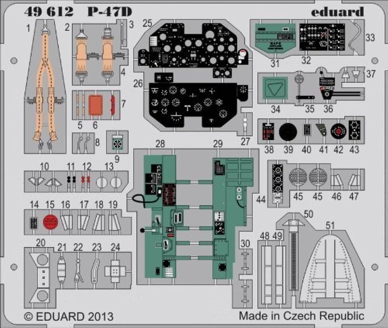 ventas calientes Eduard Photoetch 1 48 - P-47D P-47D P-47D S.A (Hobbyboss) - (EDP49612) by Eduard  moda