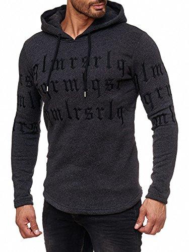 Redbridge Herren Hoodie Kapuzenpuller Pullover Sweatshirt Gothic Codes Hoody M2123 (L, Anthrazit)