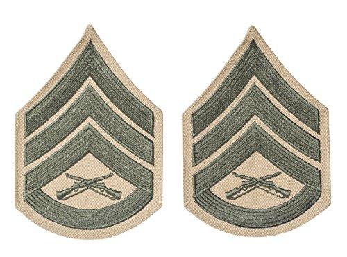 SSgt Green on Khaki Chevrons, USMC male