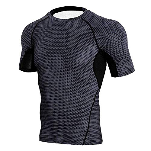 CUIZC T-shirt de sport à séchage rapide imprimé serpent Taille M L XL XXL XXXL - - L
