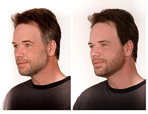 The Younger Looking Beard (Dark Brown) Beard and Mustache Darkener. Non Allergenic. 1 Minute Brush...