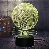 Nouveau 3D Nba Basketball Sport Décor À La Maison Led Illusion Touch 7 Changement De Couleur Lampe Accueil Night Light Meilleur Enfant Garçon Homme Cadeau De Noël