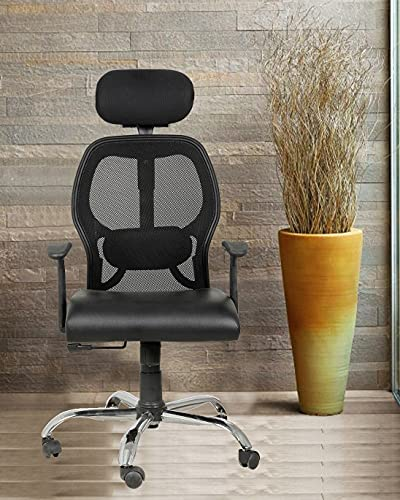Casa Copenhagen D Collection Ergonomic Delux Super Soft Desk Chair High Engineered Frame Durable and Adjustable Office Chair Modern Executive Chair with Armrests Lumbar Support - Black