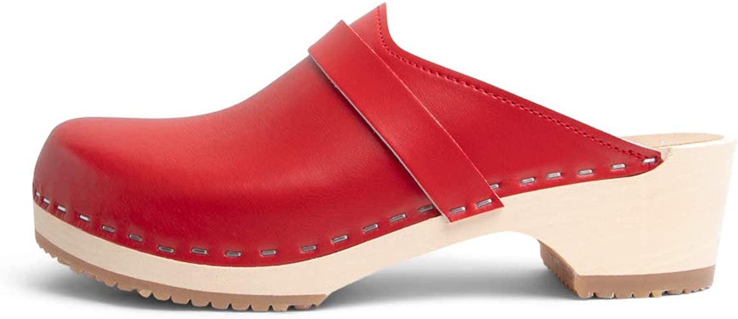 VERKA Women's Wooden Clogs from Sweden - LEDIG