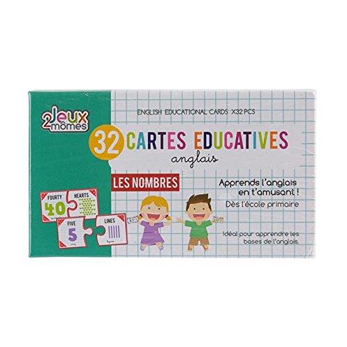 32 cartes éducatives apprentissage de l'anglais JEUX 2 MÔMES les nombres