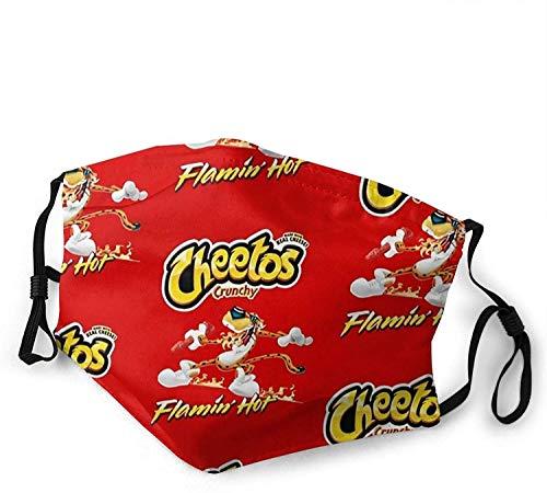 Halstuch, Cheetos, knusprig, waschbar, doppelseitig, Staubschutz, Medium, Schwarz, Einheitsgröße