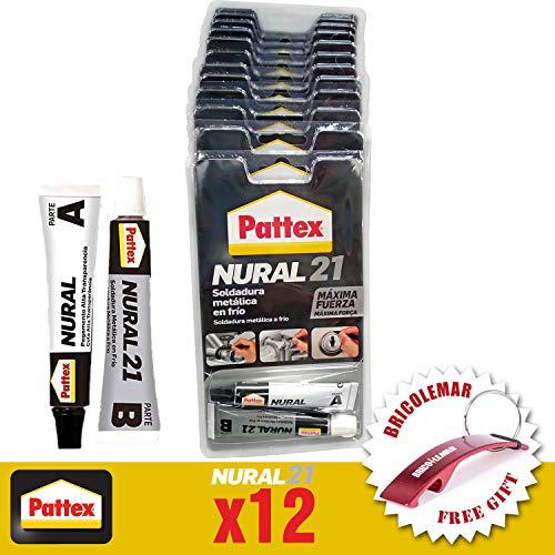 Nural 21 Soldadura en Frío 22ml Pattex (Caja 12 unidades Edición Especial con Llavero Abridor Bricolemar de Regalo!)