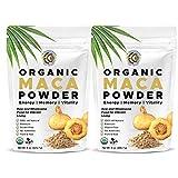 Earth Circle Organics - Organic Peruvian Mighty Maca Root Powder   Natural Superfood   Ideal for Men & Women   Energy, Hormone & Women's Fertility Kosher, Raw & Vegan - 2 Pack