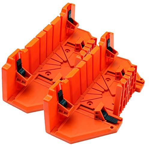 Klem verstekbak met zaag, 14 inch verstekzaag, houtbewerking DIY Tools, 0/45/90 graden hout snijden 2pcs
