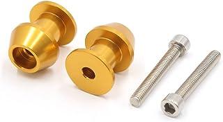 uxcell Pair Gold Tone Metal 6mm Thread Dia CNC Swingarm Spools Sliders Stand Bobbins