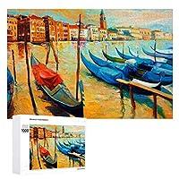 Venice Italy (2) 木製パズル大人の贈り物子供の誕生日プレゼント(50x75cm)1000ピースのパズル