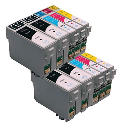 10er Set ABC kompatible Druckerpatronen für Epson Stylus Office B42WD BX305F BX305FW Plus BX320FW BX525WD BX535WD BX625FWD BX630FW BX630 BX635FWD BX925FWD BX935FWD SX230 SX235 SX235W SX420 SX420W SX42