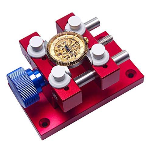 Hellery Einstellbar Uhr Gehäusehalter Uhrenhalter Werkstückhalter Schraubstock Halter Uhrenwerkzeug Kit für Armbanduhren Batteriewechsel