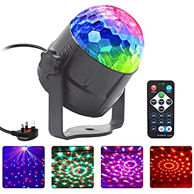 Disco Light, NIAGUOJI Sound Activated Party Light with Remote Control Disco Ball Lights for Kids Halloween Xmas Birthday Disco Parties Dance Karaoke Decorati