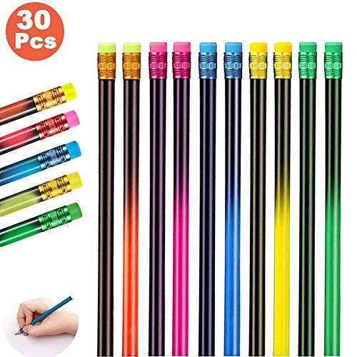 Zeichnung Buntstift,Farbwechsel Stift,Schwarz Wechsel In Farben Wechsel Stimmung Bleistift, Thermochrome Wechsel Stifte,Holzstifte Bunt-Thermochrom (30pcs)