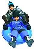 Slippery Racer Airdual Inflatable Snow Tube Sled, Blue