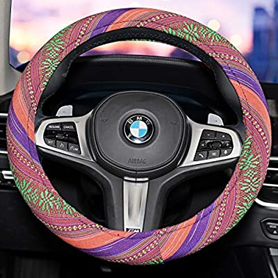 Amazon - Save 60%: Himomet 15inch Boho Memory Flom Steering Wheel Cover for Women,…
