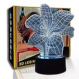 KangYD 3D Nachtlicht Fowers Form, LED Visual Illusion Lampe, Kid Lampe, F - Bluetooth Audio Base (5...