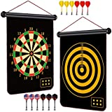 GXFCWSRY Magnetic Dart Board Indoor Outdoor Games for Kids and Adults with 12pcs Safe Darts, Fun...