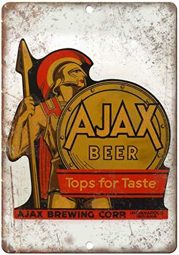 N / A Ajax Bier Indianapolis Vintage Retro Tin Teken Muurschildering Metalen Poster Bar Plaque IJzeren Schilderij Sterrenvormige Yard Pub Thuis Tavern Shop
