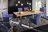 SAM Baumkantentisch 120x80 cm Quarto, Esszimmertisch aus Akazie, Holz-Tisch mit Silber lackierten Beinen - 2