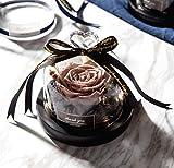 Mrjg Kunstblumen Die Schöne und das Biest erhalten Exklusive Rose In Glaskuppel Mit Lichtern Ewige Echte Rose Muttertag GIF Grünpflanzen (Color : 02)