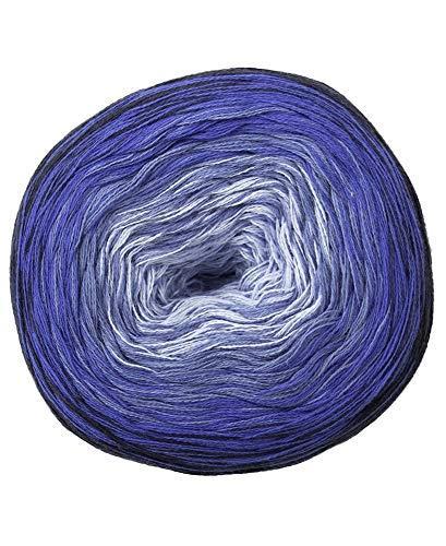 Woolly Hugs Bobbel Cotton, Blau (Farbe 24 Mare), 200 g, Ca 800 m