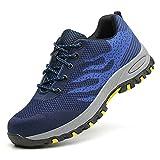 Zapatillas Seguridad Hombre Mujer, Zapatos Trabajo Unisex Cómodos y Transpirables Calzado de Seguridad Industriales