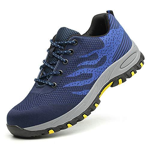 Scopri offerta per Scarpe Antinfortunistiche per Unisex, Uomo Donna Traspiranti Sneaker da Lavoro Leggere ed Eleganti Scarpe Sportive di Sicurezza