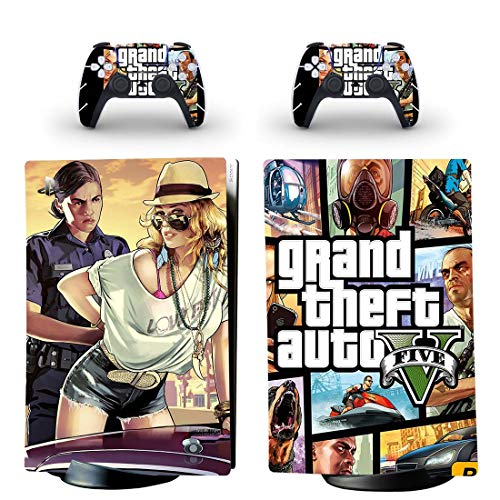 FENGLING Grand Theft Auto V GTA 5 Ps5 Digital Edition Skin Sticker Decal Cover per Playstation 5 Console e Controller Ps5 Skin Sticker