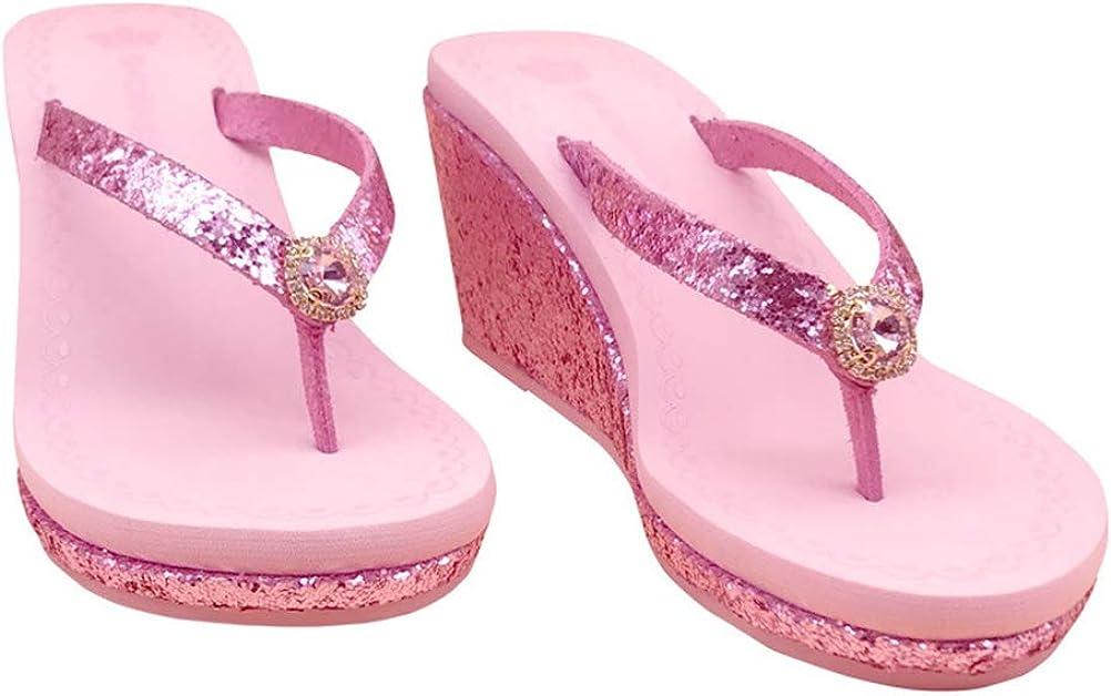 sparkle wedge flip flops