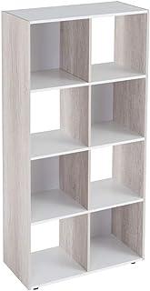 Estantería Cubo de Madera MDF Blanca contemporánea, de 60x29x120 cm - LOLAhome