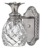Hinkley Plantation Collection Tropical One Light Bathroom Vanity Fixture, Polished Antique Nickel